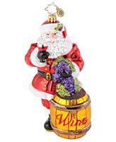 Christopher Radko Christmas Ornament, Sommelier Santa