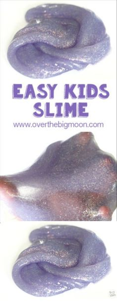 Slime | This easy slime recipe will keep the kids happy for a long time! It's a great kids craft and has also been called Gak or flubber. Over the Big Moon for