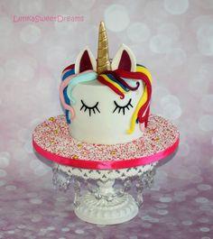 Magical unicorn birthday cake. - Cake by LenkaSweetDreams