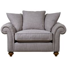Our 'Bloomsbury Chesterfield' range balances contemporary and traditional touches to offer a pared-back take on the classic Chesterfield design. This loveseat features scrolled, buttoned arms and hand-turned wooden feet while scattered, pillow back cushioning ensures irresistible comfort and also helps to retain a modern, versatile look.