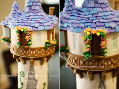 Gorgeous details on this tangled tower. Tangled cake inspiration.