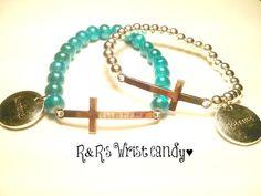 Cross and Karma Bracelet by RandRsWristCandy on Etsy, $8.00