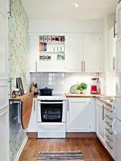 21 space saving kitchen island alternatives for small kitchens Kitchen Cabinet Remodel, Modern Kitchen Cabinets, Kitchen Cabinet Design, Ikea Kitchen, Modern Kitchen Design, Kitchen Interior, Kitchen Ideas, Kitchen Decor, Kitchen Layouts