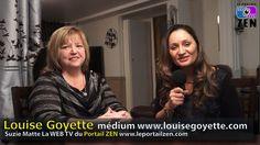 #louisegoyette #medium #suziematte #leportailzen #smattevideowebmedia Zen, Medium, Portal, Medium Long Hairstyles