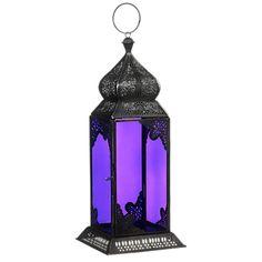 Like a jewel: Purple Moroccan lantern