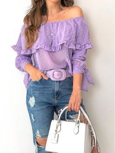Vogue Fashion, Look Fashion, Womens Fashion, Classy Outfits, Casual Outfits, Cute Outfits, Lavender Outfit, Purple Outfits, Purple Fashion