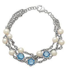 Blue Topaz & Pearls #jewelry #elegant