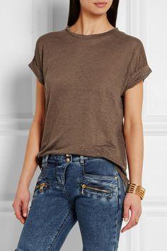 4b11502f0bd Dark-brown linen-jersey Slips on 100% linen Machine wash Imported