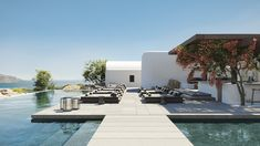 Find all about a luxurious new boutique hotel in Mykonos. This summer, Kalesma is the famous island's most anticipated new entry designed by the distinguished Greek design company K-studio Paros, Outdoor Swimming Pool, Swimming Pools, Villas, Best Hotels In Greece, Bungalow, Mykonos Hotels, Mykonos Greece, Santorini Greece