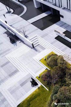 Contemporary Landscape, Urban Landscape, Landscape Design, Public Space Design, Public Spaces, Plaza Design, Shade Structure, Unique Buildings, Outdoor Landscaping