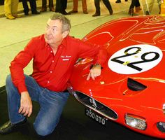 Nick Mason of Pink Floyd with his GTO