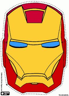 avengers coloring pages to print Avengers Birthday, Superhero Birthday Party, Coloring Pages To Print, Free Coloring Pages, Masque Iron Man, Avengers Party Decorations, Iron Man Party, Iron Man Birthday, Avengers Coloring Pages
