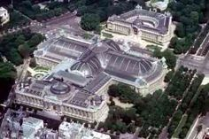 Arial view of The Grand Palais in Paris
