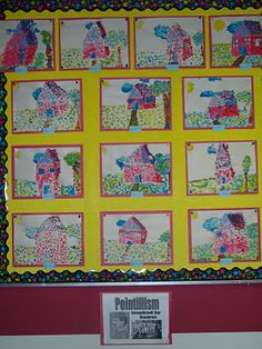 Good art lesson site + 2nd / 3rd grade Primary Pointillism art lesson