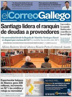 #20160224 #SANTIAGOdeCOMPOSTELA #GALICIA #España #Spain #ELCorreoGallegoSANTIAGO Miércoles 24 FEB 2016 http://en.kiosko.net/es/2016-02-24/np/correo_gallego.html