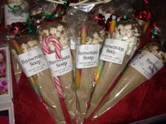 Snowman soup. Luxury galaxy hot choc in a cone with yummy marshmallows, chocolate shavings and a stirring cane!!