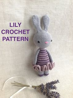 "Crochet Pattern Bunny ""LILY, the Bunny"", Amigurumi Pattern, PDF Pattern"