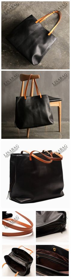 Handmade Large Top Grain Leather Tote Bag Handbag shopping Bag Shoulder Bag  SQ01--LISABAG e8c5ceab67
