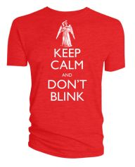 This episode is the scariest hour of television I've ever seen. :: Doctor Who: Keep Calm and Don't Blink T-shirt