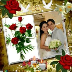 """""""The Wedding #3"""" montage from Imikimi.com. Click on it to replace your photo with theirs and save the memory of your special day! There are lots of wedding photo frames on Imikimi!"""