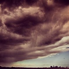 "From Moby's Instagram: ""The big things on the left: apocalypse clouds. The tiny thing on the right: a city of 15,000,000 peoples."""