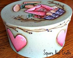 Paper mache box painted by Square Nail Crafts using a Deb Richey design www.facebook.com/squarenailcrafts