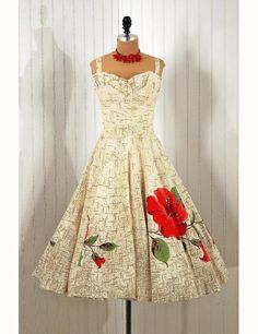 Dress, 1950s, via Timeless Vixen Vintage.