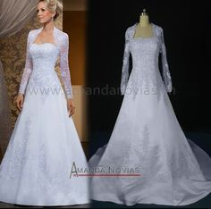 Novias118 Satin A-Line Train Brazilian Designer 2015 lace Satin wedding dress Real Pictures