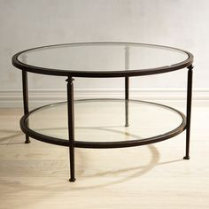 Lincoln Glass Top Round Coffee Table | Pier 1 Imports