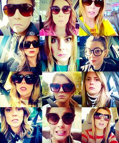 """My fav Grace Helbig""""girl in car having a great time,"""" Mamrie Hart, Hannah Hart, Grace Helbig, Famous Youtubers, Shes Perfect, Tyler Oakley, Dan And Phil, Car Girls, Celebs"""