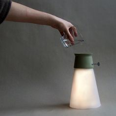 Meet WAT, a lamp powered by water.A few drops of water kick starts the process where it combines with a hydroelectric battery to generate an electro chemical reaction to create power.
