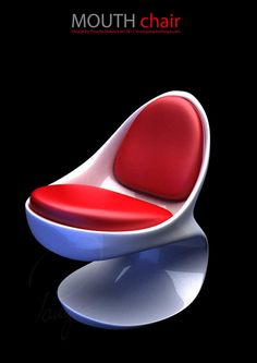 Mouth Chair on Behance  Designed by Pouyan Mokhtarani   I haven't decided if I like it or not.