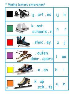 * Welke letters ontbreken? 1-2 Winter, Winter Time, Winter Fashion
