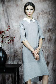 Kasia Miciak design - Sukienka z kołnierzykiem