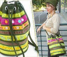 Ribbon Wrapped Bucket Bag with Drawcord Top: Renaissance Ribbons | Sew4Home