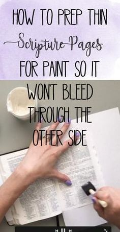 Video Tutorial: How to Prep Your Scripture Pages for Paint – Worthy Written Words