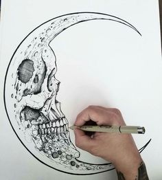 The Fearful Skull on – A R T – Art drawings, Art, Tattoo drawings skull art tattoo - Tattoos And Body Art Cool Drawings, Tattoo Drawings, Drawing Sketches, Pencil Drawings, Tattoo Art, Skeleton Drawings, Creepy Drawings, Sketch Art, Tattoo Sketches