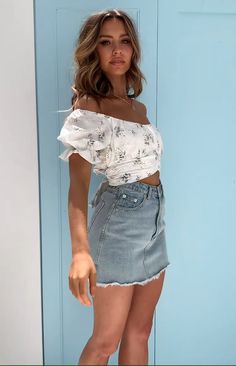 Heritage Wrap Top White Floral - Source by - Cute Summer Outfits, Spring Outfits, Trendy Outfits, Cute Outfits, Fashion Outfits, Girly Girl Outfits, Crop Top Outfits, Skirt Outfits, Next Clothes