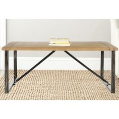 Safavieh Chase Natural Coffee Table | Overstock.com