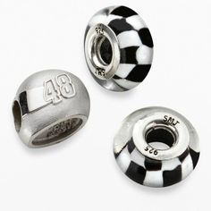 """Insignia collection nascar jimmie johnson sterling silver """"48"""" helmet bead set on shopstyle.com"""