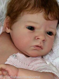 Sabrina reva schick flutterby hearts reborns green eyes brown hair beautiful baby girl Tamara auty