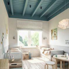 Peindre un plafond en couleur pour dynamiser sa déco