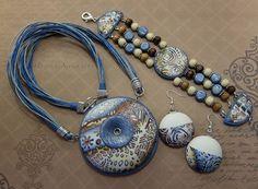 Комплект украшений из полимерной глины Автор: Мария Лихачёва