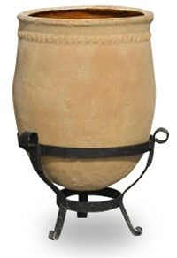 With its authentic historical design, the Capital Garden Mediterranean 2 vessel adds ancient interest to your backyard or terrace. This vessel incl Luxury Mediterranean Homes, Mediterranean Architecture, Mediterranean Home Decor, Tuscan Homes, Style Villa, Tropical Home Decor, Tropical Homes, Burke Decor, Outdoor Living