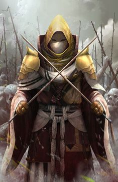 A warrior-monk of Arapa. These soldiers hold large settlements to the North, and do not attempt to conquer, only defend their territory. High Fantasy, Fantasy Rpg, Dark Fantasy Art, Medieval Fantasy, Fantasy Artwork, Fantasy Character Design, Character Design Inspiration, Character Concept, Character Art