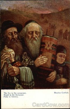 The Fire in the Synagogue, Maurice Gottlieb Judaica [Why the Jews? I know - but do you?]