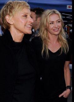 ❤️ Ellen And Portia, Portia De Rossi, Ellen Degeneres, Celebs, Couples, People, Gold, Photos, Inspiration