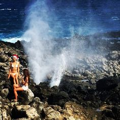 Epic Tuesday! Hike to #Tidepools, huge #waves in the #ocean, and tons of #blowholes. Early #MerryChristmas from #Hawaii!