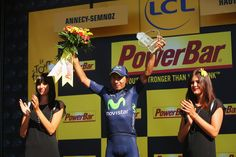 Nairo Quintana Best young rider Nairo Quintana of Colombia and Movistar Team celebrates on the podium after winning stage twenty of the 2013 Tour de France, a 125KM road stage from Annecy to Annecy-Semnoz, on July 20, 2013 in Annecy, France.