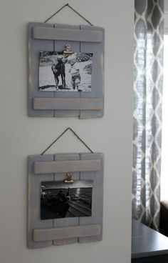 Use This DIY Photo Pallet Plaques to Display Family Photos #DIYHomeDecorPallets